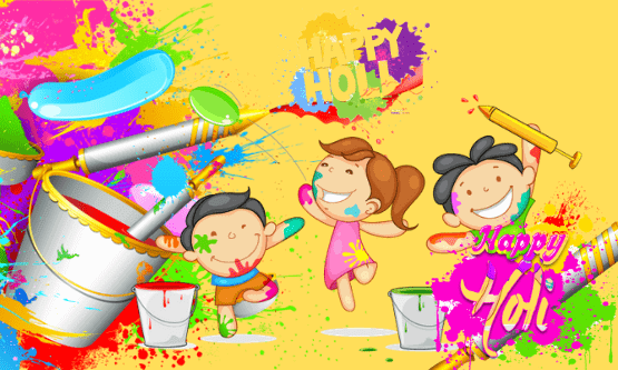 children playing color